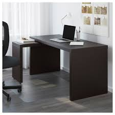 sleek computer desk malm desk with pull out panel black brown ikea