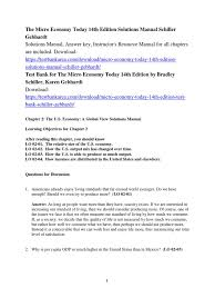 the micro economy today 14th edition solutions manual gross