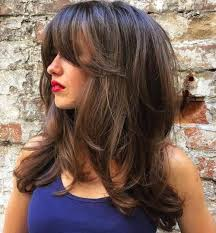 medium length hairstyles front and back with bangs 80 cute layered hairstyles and cuts for long hair long layered