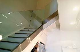 Glass Handrails For Stairs Glass And Aluminum Railing Systems Nyc Glass Works