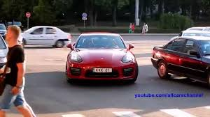porsche panamera 2015 red carmine red porsche panamera gts mkii loud acceleration sounds