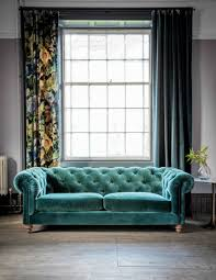 Blue Velvet Chesterfield Sofa Velvet Chesterfield Sofa By Grey