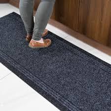 concorde non slip dark grey black runner rug buy per foot kukoon