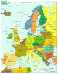 North European Plain Map by Map Of Europe Countries Continental Region The Maps Of Europe