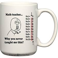 Meme Mug - math teacher why you never taught me this 15 oz funny meme mug