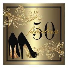 shoes fabulous 50th birthday invitation zazzle