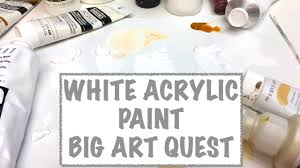 big art quest acrylic white paint colors what is different about