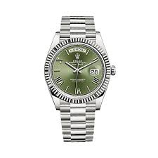 rolex day date 40 228239 white gold olive green world s best
