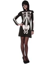 skeleton woman halloween costume ladies skeleton fancy dress costume womens halloween