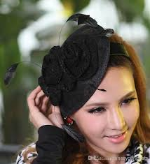 cheap hair accessories online cheap women fashion dress fascinator hat sinamay lace