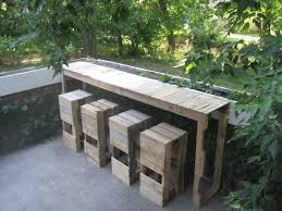 Diy Wood Patio Table by Diy Pallet Patio Furniture For Small Area Cool House To Home