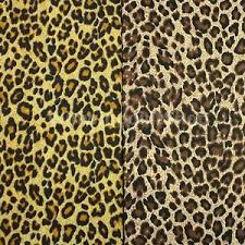 leopard fabric brown yellow leopard print fabric cotton blend sewing quilting wide