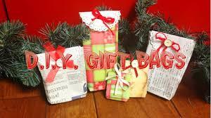 d i y christmas gift bags sacchetti regalo fai da te youtube
