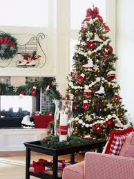 red white christmas tree christmas lights decoration
