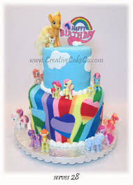 100 mlp birthday cakes we baked a my little pony six layer