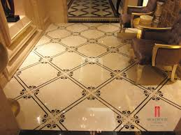 spain crema royal marble waterjet marble inlay flooring design