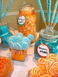 turquoise and orange candy bar annual gala for our lady of mercy