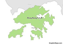 Map Of China And Hong Kong by Hong Kong Graphicmaps Com