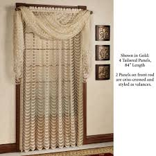 cascade lace panel window treatment cascade tailored panel
