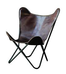 amazon com creative co op leather and metal butterfly chair