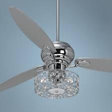 Bedroom Fan Light 60 Spyder Chrome Ceiling Fan With Discs Light Kit