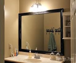 bathroom mirror ideas diy how to frame a builder grade bathroom mirror hometalk