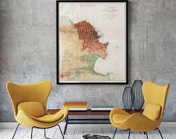 san francisco map framed custom framed louisiana map map of louisiana vintage
