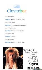 Bowie Meme - david bowie is cleverbot by fangykins meme center