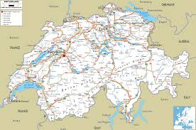 map in road detailed clear large road map of switzerland ezilon maps