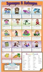 english teaching worksheets synonyms and antonyms