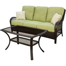 hanover orleans 4 piece wicker loveseat and chair set with 2