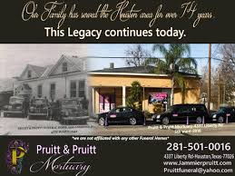 funeral homes in houston pruitt pruitt mortuary