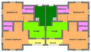 detached home office plans two bedroom semi detached house plan building designs townhouse