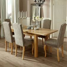 bromley 160 230cm dining set with 6 kensington fabric chairs
