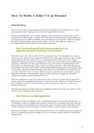 Resume To Apply For A Job by How To Write A Killer Cv Resume