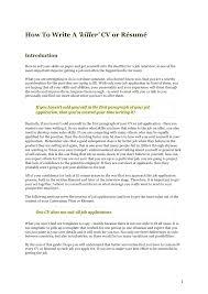 how to create cv or resume how to write a killer cv resume