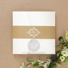 pocket invitation trifold pocket invitation in pearl monogrammed band