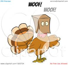 no turkey thanksgiving clipart of a cartoon thanksgiving turkey bird barking and wearing