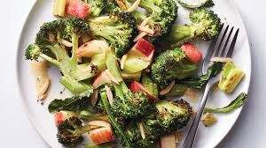roasted broccoli salad with celery and apple recipe health