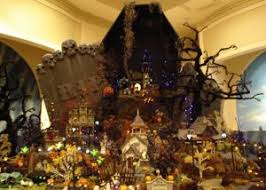 the haunted world of halloween village houses the lone in a