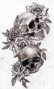 collection of 25 crown skull and flower designs