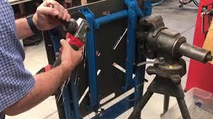 miller arcstation 30fx welding table miller arcstation 30fx welding table wheel modification youtube