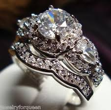 wedding sets for stunning cz vintage style women engagement wedding rings set size 5