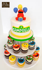 elmo cake topper u0026 character cupcakes hudson cakery