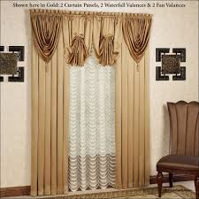 Tropical Curtain Panels Interiors Marvelous Curtain Waterfall Curtains And Drapes