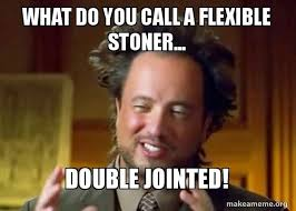Stoner Guy Meme - what do you call a flexible stoner double jointed ancient