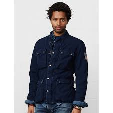 Denim And Supply Jacket Denim U0026 Supply Ralph Lauren Quilted Motorcycle Jacket In Blue For