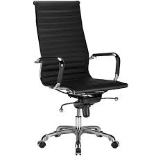 modern classic high back office chair black