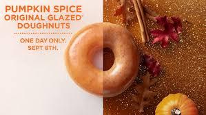 krispy kreme s delicious pumpkin spice doughnut arrives for one day