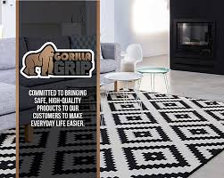 Black And White Floor Rug Amazon Com Gorilla Grip Felt And Rubber Non Slip Rug Pad Extra